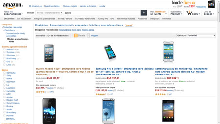 Moviles Amazon