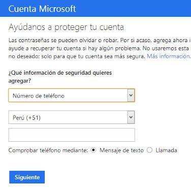 Verificar cuenta Outlook móvil