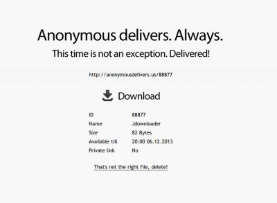 Anonymous Delivers