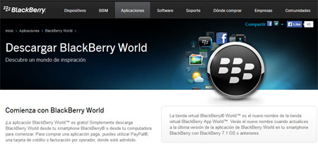 Descargar BlackBerry World