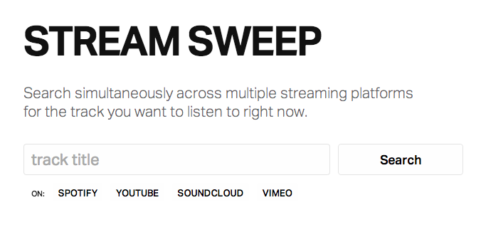 Stream Sweep