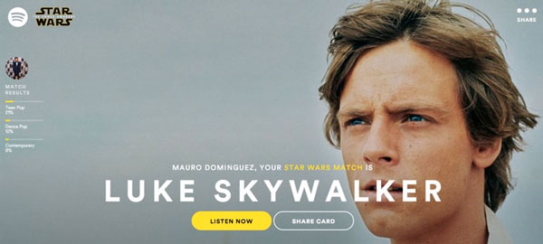 Spotify Star Wars